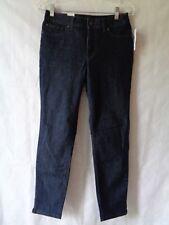 UK New Skinny Ripped Dark Blue Fold Over Denim Stretch Mom Jeans Glamzam Casual