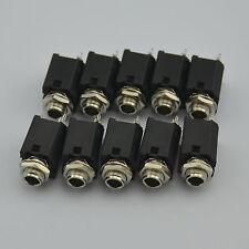 "10PCS x 1/4"" 6.35mm Stereo Jack Socket Audio plug for guitar pedal/amp/ diy"