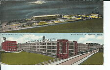 AY-171 - Ford Motor Company by Daylight Moonlight, 1907-1915 Golden Age Postcard