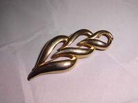 VTG Gold Tone Modern Abstract Triple Heart Pin Brooch