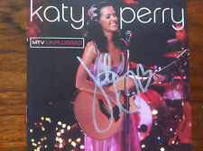 Katy Perry MTV UNPLUGGED cd/dvd booklet signed autographed by Miss Katy Perry