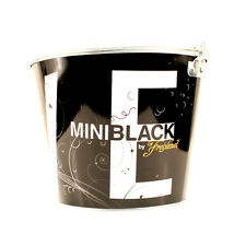 Love Mini Black Beer Bucket, Galvanised Tin with handle