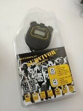 Accusplit Survivor 1 Series Chronograph Stopwatch S1XLBK Timer Gym Phys Ed D8