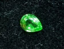 Vibrant .68ct VVS-IF Tsavorite Garnet! Excellent Pear Cut! UNTREATED & UNHEATED