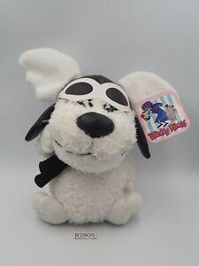 "Wacky Races B2805  White Jun Planning 7"" Plush Toy TAG Doll Hanna-Barbera"