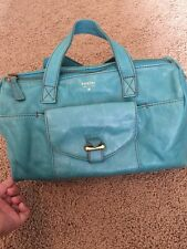 Fossil Teal/ Turquoise Leather Doctor Bag Handbag