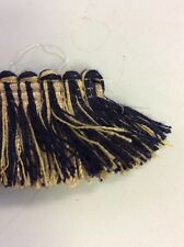 11.70m Corte Ruche Navy & Beige 3cm halos flecos de gastos de envío gratis