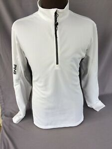PING Performance Men's Golf Lightweight Pull Over Jacket White/Gray Sz L