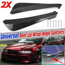 For BMW E90 E91 E92 E93 Carbon Fiber Side Aprons Cap Spoiler Rear Bump