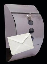 Steel Letter Mail Box with Flip Lid & Lockable Parcel Door Hatch Thin Parcels
