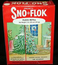 Frosty Sno Flok Christmas Tree Snow Flocking 1lb Refill Box Flock Spray On Vtg