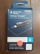 Samsung Adaptive Fast Charging Vehicle/Car Charger with Micro USB Cable - Black