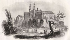 Monastery of Tyniec. Poland 1836 old antique vintage print picture