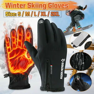Winter Thermal Warm Ski Snowboarding Driving Work Mitten Gloves For Cold Weather