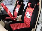 1 Sets Hello Kitty Cute Car Cushion Plush Universal Car Seat Covers Black Red