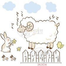 Ovejas Conejo Nubes Pollo cuarto del bebé Adhesivos de Pared Decoración Hogar