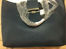 AUTHENTIC ELIE TAHARI NAVY BLUE TOTE BOUTIQUE BRAND NEW WITH TAGS FREE SHIPPING