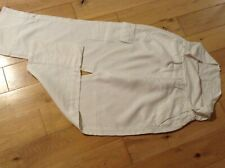 DKNY Maternity White 100% Linen Over the Bump Wide Leg Trousers Size 14