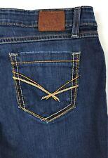 BKE Buckle Taylor Dark Wash Distressed Stretch Blue Jeans Womens 30R 30x31.5
