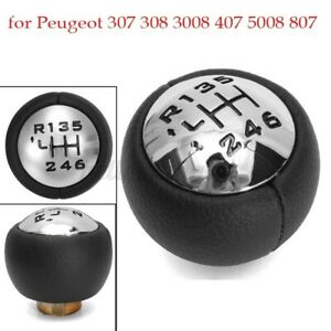 6 Pommeau Levier Vitesse Cone pour Peugeot 307 308 407 807 pour Citroen C3 C4