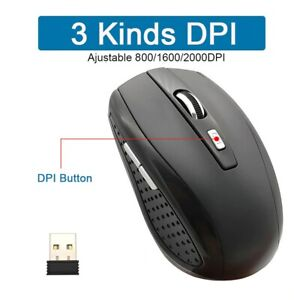 2.4Ghz Wireless Game Mouse 2000 DPI Optical With 6 Keys And USB Receiver Mice fo