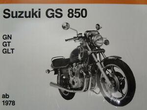 Wartung Reparaturanleitung Werkstatthandbuch Suzuki GS850 + GS72A Band 5025