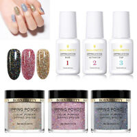 6Bottles BORN PRETTY Glitter Nail Dipping Powder With Dip Liquid System No Lamp