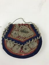 Vintage Iroquois Native American Indian Beaded Miniature Purse Bag Pouch