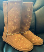 Airwalk Girl's Boots Size 2 With Gold Stars