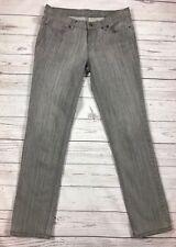 London Jean 4 Grey Distressed Straight Leg Stretch Denim Jeans Pants z2