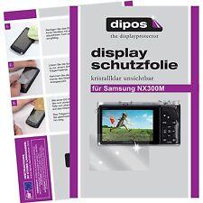 6x dipos Samsung NX300 / NX300m klar Displayschutzfolie Crystalclear unsichtbar