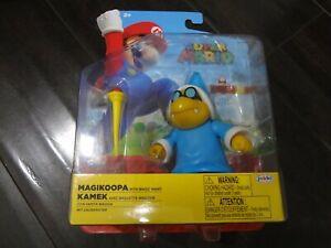 "Super Mario Magikoopa with Magic Wand 4"" Action Figure New!"