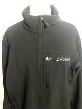 Spyder Men's Large Winter Fleece Lined Lightweight Coat Jacket Spell Out Flaws