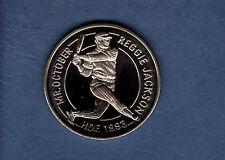 "REGGIE JACKSON, Yankees ~ 1994 Liberia coin commemorating ""Mr. October""/1993 HoF"