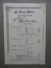 Cartoncino Pubblicità Paolo Porta Scale Aeree Accessori Milano Prezzi Illustrato