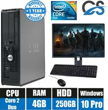 FULL SET DELL COMPUTER DESKTOP TOWER SET PC 4GB RAM 250GB HDD WIFI BARGAIN WIN 7