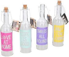 4 Set Lampe LED bouteille en verre décorative veilleuse Maison de campagne déco