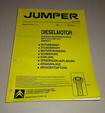 Werkstatthandbuch Citroen Jumper 2,0l HDI-Dieselmotor DW10 UTD Stand 02/2002
