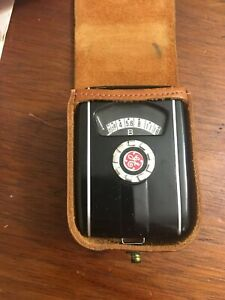 Vintage GE Mascot Exposure Meter. Type PR-30, With Case and Manual. Working.