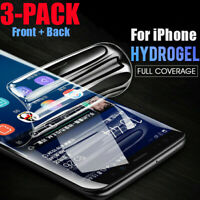 Flexible Hydrogel Screen Protector Film For iPhone 11 Pro Max/XR/XS MAX/7/8 Plus