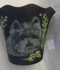 Cairn Terrier Hand Painted Planter