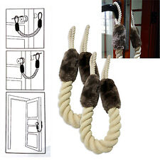 Pet Door Stopper Rope Handle Stop Anti Buffering Protector Slamming Shut Wedge