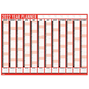 2022 LARGE YEAR PLANNER A1 WALL CALENDAR YEAR TO VIEW OFFICE HOME 84X60cm 3819