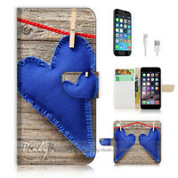 ( For iPhone 7 ) Wallet Case Cover P1607 Love Heart