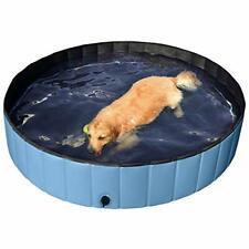 Blue Foldable Hard Plastic Kiddie Baby Dog Pet Bath Swimming Pool XXL-63inch