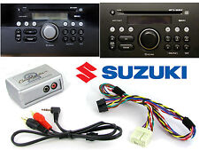 Suzuki AUX adaptor lead 3.5mm jack in car radio iPhone MP3 CTVSZX001 auxiliary i