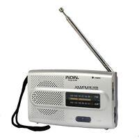 Portable Pocket AM/FM Receiver Radio Telescopic Antenna Built in Speaker