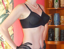 Vintage Black Exquisite Form Bullet Bra 34 DD pin up clothing girl retro pointy