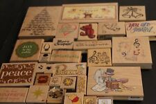 Lot of 29 Rubber Stamps Pooh Christmas All Night Media Stampendous Stamps Happen