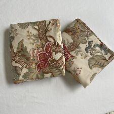 "2 Pottery Barn Graciela Palampore 84"" Curtain Drapes Panels Jacobean Floral"